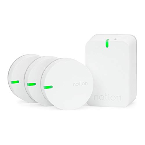 Notion Smart Home System (Gen 3): Monitor and Receive Alerts on Doors, Windows, Sounding Alarms. Works with Nest (1 Bridge + 3 Wireless Sensors)