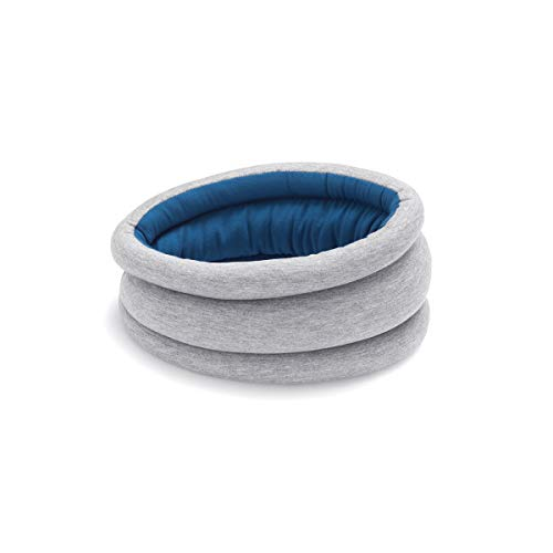 OSTRICH PILLOW LIGHT Travel Pillow for Airplane Neck Support - Travel Accessories for Head Rest, Power Nap on Flight - Sleepy Blue