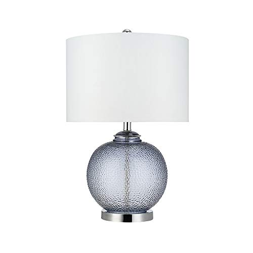 Catalina-Lighting-21544-000-Transitional-3-Way-Round-Hammered-Metal-Look-Glass-Table-Lamp-with-Linen-Shade-235-Smoke-Grey