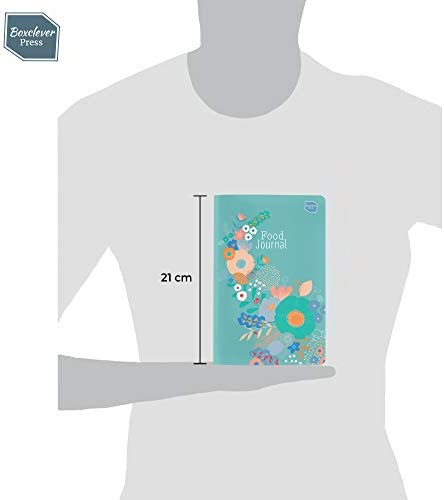 Boxclever Press Food Journal for a Healthier Lifestyle. Food Diary and Food Journal Log Book. Portable Daily Planner to Use with Weight Watchers, Diets or Personal Training Plans. (Turquoise Bloom) 9