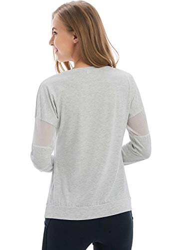 Fihapyli Women's Plain Long Sleeve T Shirt Workout Top Loose Yoga Tops Gym Sports T-Shirt with Thumb Hole 2 Fashion Online Shop gifts for her gifts for him womens full figure