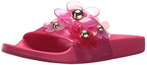 Marc Jacobs Women's Daisy Aqua Slide Sandal, Fuchsia, 36 M EU (6 US)