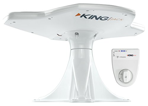 KING OA8500 Jack HDTV Directional Over-the-Air Antenna with Mount and Signal Finder - White