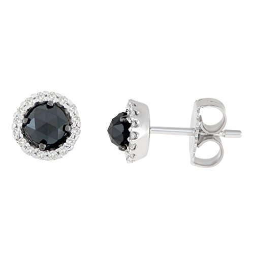 prong earrings p set diamond stud wh gold black