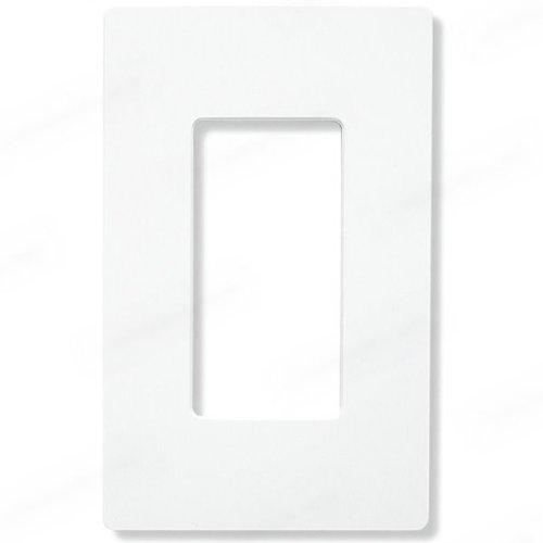 Leviton 122-80401-NW 1-Gang Decora/GFCI Device Wallplate, Standard Size, Thermoplastic Nylon, Device Mount, White