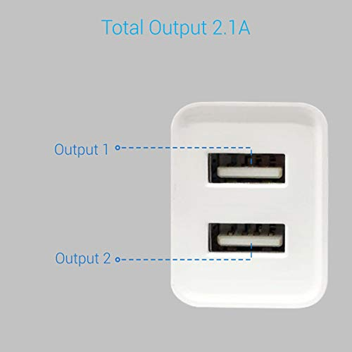 Portronics Adapto 36 USB Wall Adapter with 2.1A Quick Charging Dual USB Port + Micro USB Charging Cable for All iOS & Android Devices (White) 4