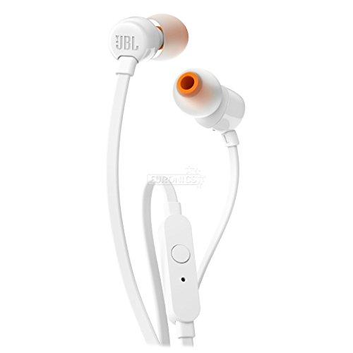 JBL T110 Audífonos In-Ear, Blanco
