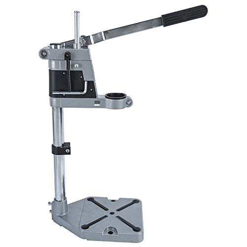 YaeTek Multifunction Adjustable Drill Press Stand for Drill Workbench Repair Tool Universal Bench Clamp Support Tool, Drill Press Table, Drill Stand for Hand Drill Single Hole Aluminum Base