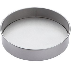 KitchenCraft Non-Stick Round Cake Tin with Loose Base for Cheesecakes, Sandwich Sponges and Quiches, Silver, 20.5 cm (8 Inch) 31IgmnYC0tL