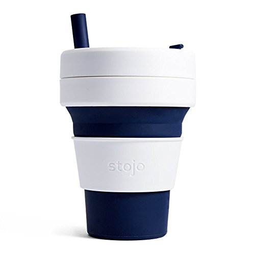 Stojo S2-IND Silicone Collapsible Cup, 16 oz, Indigo