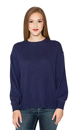 """81GEe0cYy2L SPECIFICS: Available in Cobalt (blue). Model is 5'9"""" and wearing a size Small. Fit runs true to size according to Velvet's Size Guide. MATERIAL: Fabric is 100% Cashmere. Made in China. CARE INSTRUCTIONS: Dry clean only."""