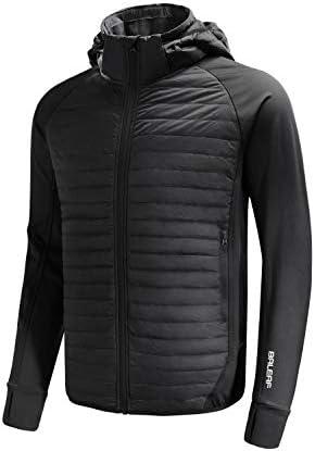 BALEAF Men's Lightweight Warm Puffer Jacket Winter Down Jacket Thermal Hybrid Hiking Coat Water Resistant Packable