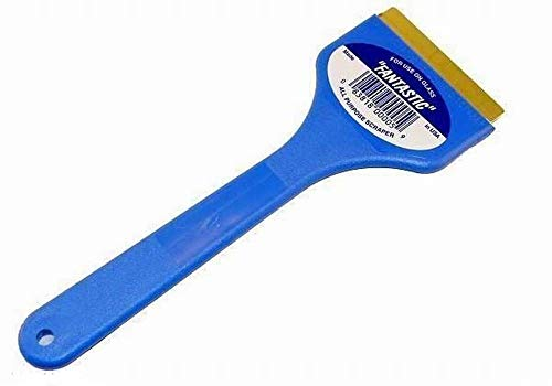 C J Industries F101 Fantastic Ice Scraper with Brass Blade, Blue