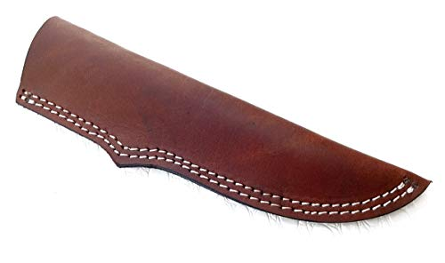 Ottoza Custom Handmade Dark Brown 8' Leather Knife Sheath for 8 inch Blade for Bushcraft Knife - Hunting Knife - Camping Knife - Survival Knife Vertical Carry/Cow - Buffalo Leather No:46