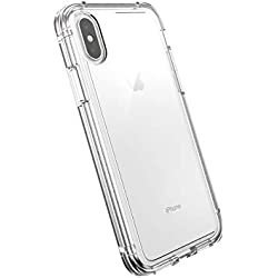 AmazonBasics Dual-Layer Case for iPhone XS, iPhone X, Clear