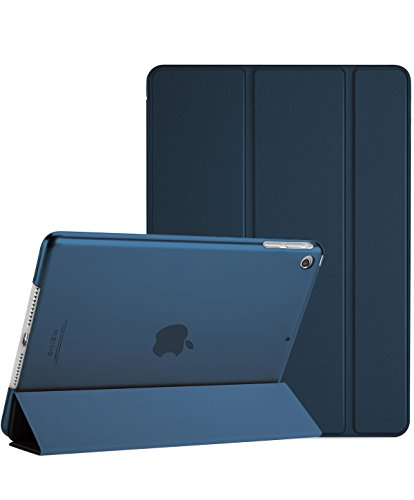 ProCase iPad Mini 1 2 3 Case (Old Model), Ultra Slim Lightweight Stand Case with Translucent Frosted Back Smart Cover for 7.9' Apple iPad Mini, Mini 2, Mini 3, with Auto Sleep/Wake -Navy Blue