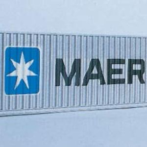 Walthers N Gauge Container 40 Foot Maersk 31JpyaAW5ML