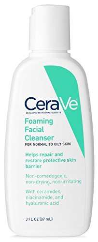 CeraVe Foaming Facial Cleanser 12 Fl. Oz for Daily Face Washing, Normal to Oily Skin (packaging may vary)
