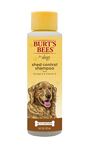 Burt's Bees for Dogs Natural Shed Control Shampoo with Omega 3s and Vitamin E | Puppy and Dog Shampoo, 16 Ounces