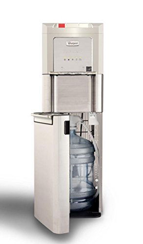 Whirlpool Self Cleaning, Bottom Loading Commercial Water Cooler with LED Indicators, Ice Chilled Water, Steaming Hot, Total Stainless Steel Water Dispenser