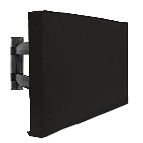 "Outdoor TV Cover - 32"" Model For 30"" - 34"" Flat Screens – Slim Fit – Weatherproof Weather Dust Resistant Television Protector - Black"