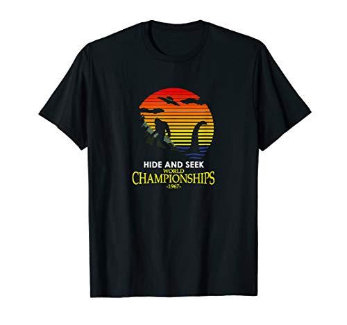 Hide and Seek World Championship Nessie VS Yeti Bigfoot T-Shirt