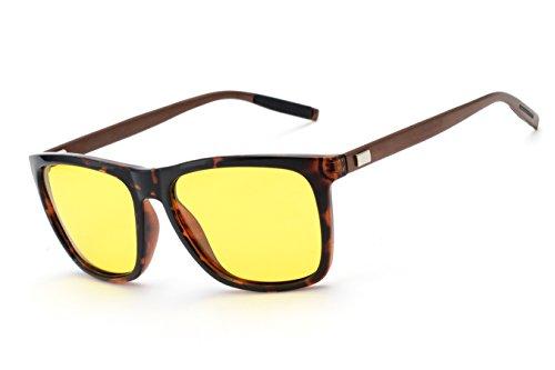Driving Ultra Light Polarized Sunglasses for Men Women Al-Mg Metal Frame 100% UV400 protection Outdoor Sunglasses (Aluminum Magnesium Polarized Leopard)