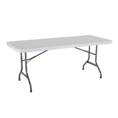 Lifetime 42901 Folding Utility Table, 6 Feet, White, Pack of 4