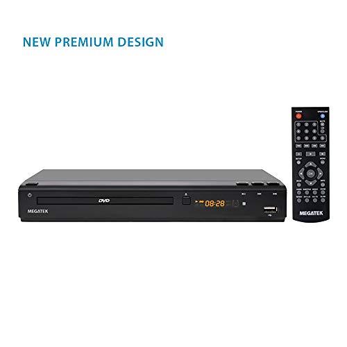 Megatek Region Free Progressive-scan HDMI DVD Player Multi Region DVD, Region Free Player 110-240 Volts, HDMI Output, USB Port Plays Multimedia Contents, LED Display, Big Premium Design Remote Control
