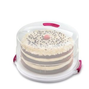 2 in 1 Height Adjustable Cake Carrier Caddy – Round Holds 30cm Cakes 31Kx8iJE59L