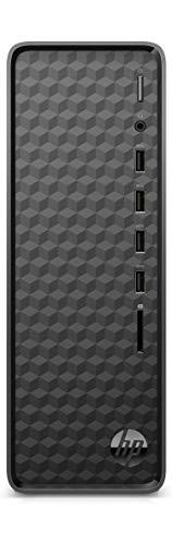 HP Slim Tower Desktop PC (Intel Celeron J4025/4GB/1TB HDD/M.2 Slot/WiFi/Bluetooth/Win 10/Jet Black), S01-af1106in