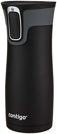 31LXorrsOzL. AC  - Contigo Jackson–Botella de agua reutilizable, 2 unidades, Matte Black & Stainless Steel, 473,18ml, 1 #Amazon