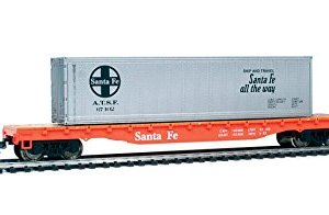 trains Mehano, Flat CAR with Container, at&SF, H0 Scale 31LYPie4c8L