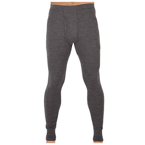 MERIWOOL Men's Merino Wool Midweight Baselayer Bottom - Charcoal Gray/XL