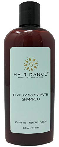 Apple Cider Vinegar Clarifying Growth Shampoo for Thinning Hair and Sensitive Scalp. Gentle to Itchy, Dry Scalp - Natural, Herbal, pH Balanced, No Sulfates or Parabens. Peppermint Scent 8 oz.