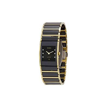 Rado Integral Jubile Black Diamond Dial Two Tone Ceramic Ladies Watch R20788752