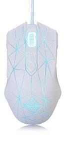 Ajazz Watcher RGB Backlit Gaming Mouse, 7 Programmable Buttons Wired Gaming Mice, AJ52 Star White
