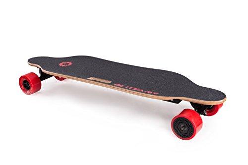 "BLITZART Tornado 38"" Electric Skateobard Longboard E-Skateboard Motorized Electronic Hub-Motor 3.5"" Wheels (Red)"