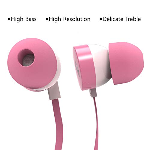 31MIC 1Iv9L AGARO - 33235 Rejoice SH100 Extra Bass in-Ear Earphone with Mic & Passive Noise Isolation (Pink)