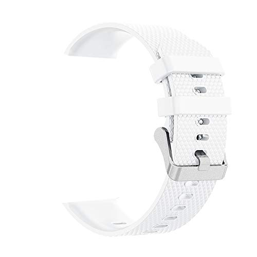 YESjikil, for Samsung Galaxy Watch Band 42mm , Diamond Texture Silicone Replacement Band Strap Active (White)