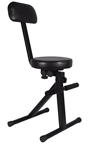 Rockville RDS40 Portable DJ/Guitar/Drum/Keyboard Padded Throne/Chair Adjustable