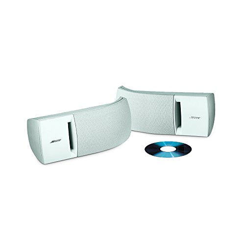 Bose 161 speaker system (pair, white) - ideal for stereo or home theater use