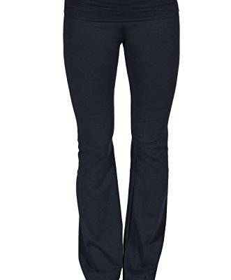 Fold over wide leg yoga pants