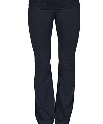 Fold over wide leg yoga pants