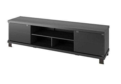 Sonax Holland Extra Wide TV/Component Bench, 70.75', Ravenswood Black