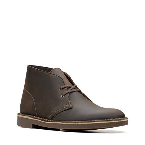Clarks Men's Bushacre 2 Chukka Boot, Dark Olive Leather, 9 M US