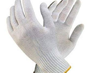 Bon Organik Reusable Washable Knitted Cotton Hand Gloves Bundle (Pack Of 20)