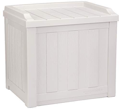 AmazonBasics 22-Gallon Resin Deck Storage Box, Grey