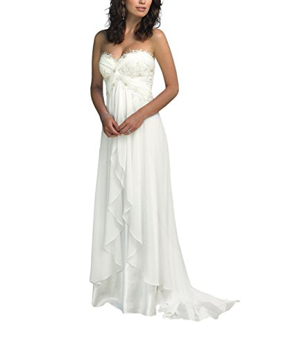 """31O8JRCKa7L A-line;Sleeveless;Sweetheart Neck;Backless;Floor-Length Please use our size chart image on the left. Do not use Amazon's """"Size Chart"""" link, we will make the dress exactly according to our size chart. We have two colors, white and ivory, please let me know which color you would like to order."""