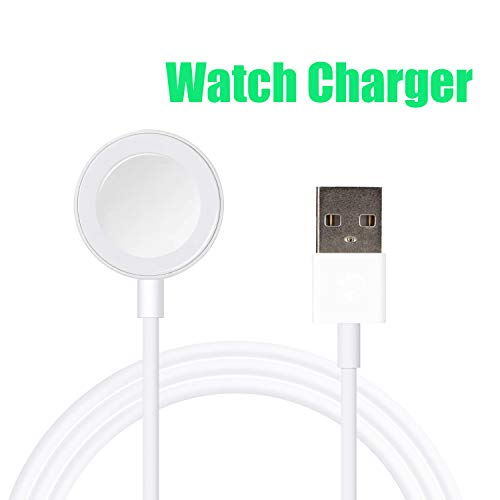 JFBAO Watch Charger Magnetic Wireless Portable Charging Cable Compatible with for Apple iWatch Series 4/3/2/1 All 38mm 40mm 42mm 44mm- 3.3 Feet